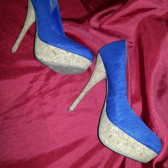 Dollhouse Shoes - blue stilettos